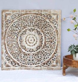 Geschnitzte Wandpaneele Design LOTO Farbe: Between White, verschiedene Abmessungen