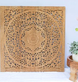 simply pure Hand carved wall panel Design LOTO natural