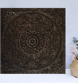 Houtsnijwerk wandpaneel LOTO antiek zwart