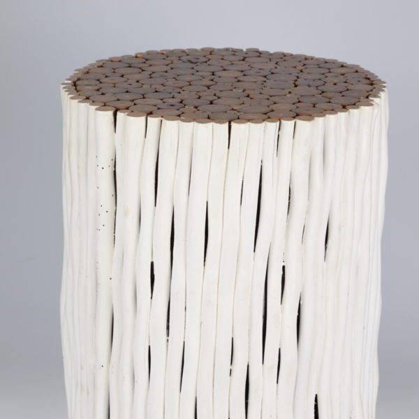 houten bijzettafel rami (rond) - simply pure.