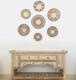 Handcrafted binga basket sets from Simbabwe as wall decoration