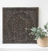 Hand carved wall panel Design SOLINO, antique black, several sizes
