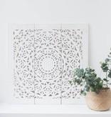 Houtsnijwerk wandpaneel Design SOLINO Kleur: Wit, verschillende afmetingen