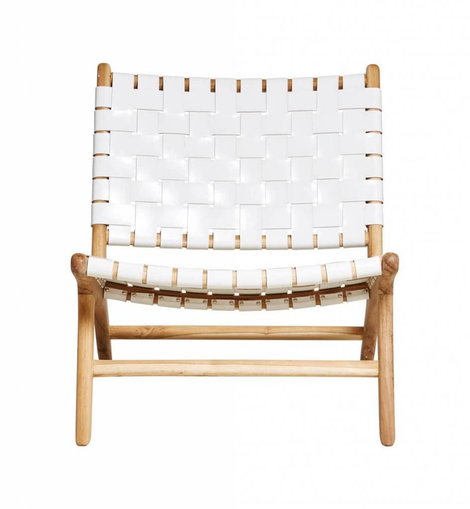 Handcrafted lounge chair MARLO ( Teak & leather)