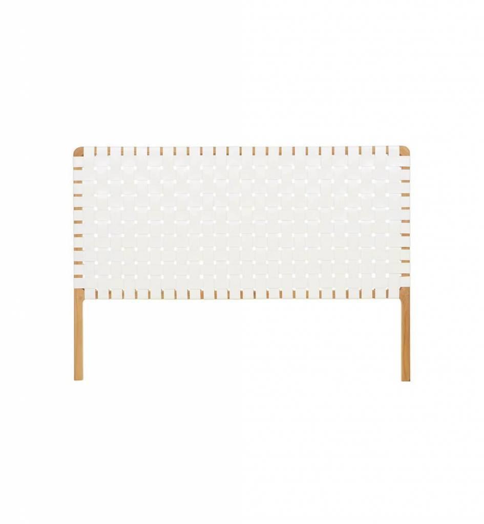 Bed head MARLO ( Leather & Teak)