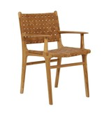 simply pure Handcrafted dining chair MARLO ( Teak & leather)