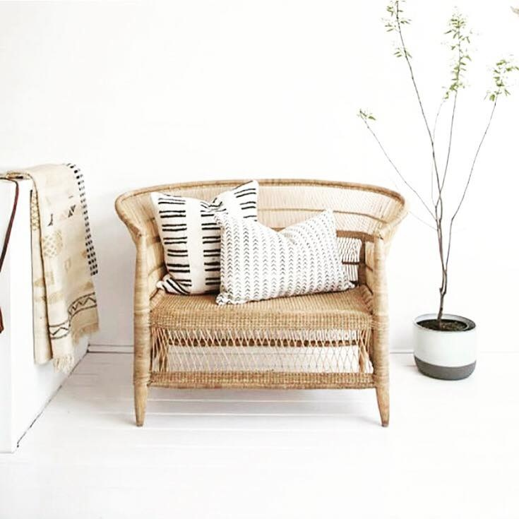 simply pure Handcrafted lounge chair MALAWY