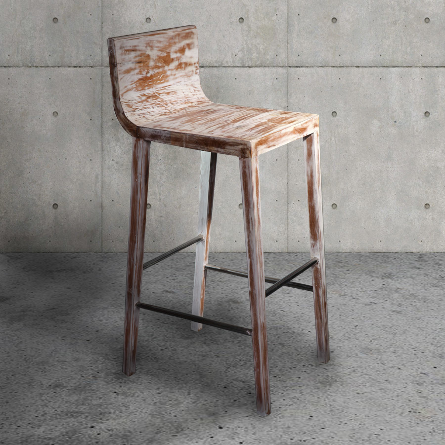 Handcrafted teak bar chair CHER