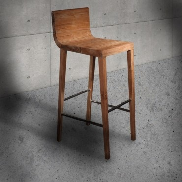 Handcrafted teak bar chair CHER