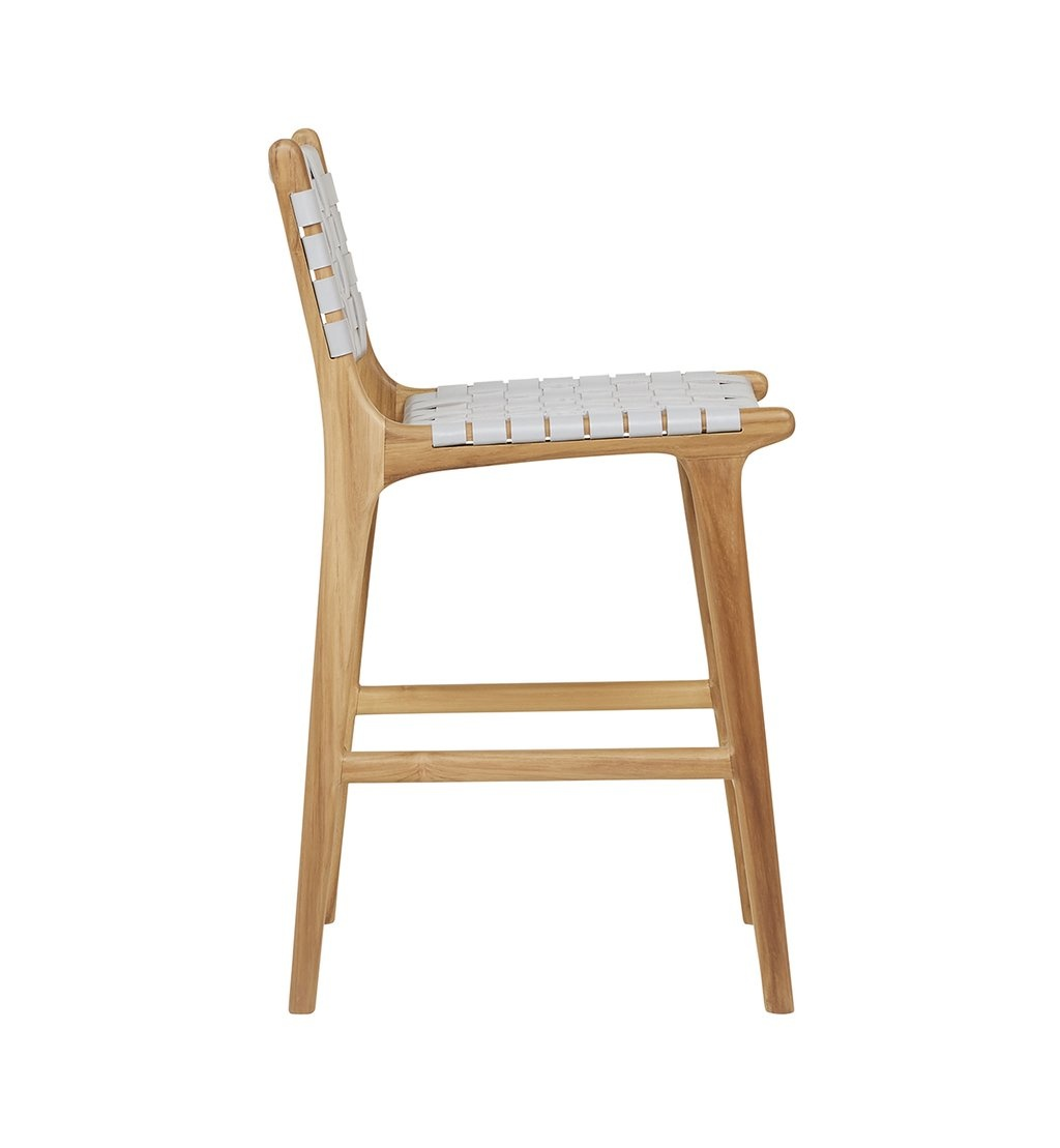 simply pure Handcrafted bar chair MARLO ( Teak & leather)