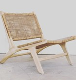Handcrafted lounge chair ROTY ( Teak & rattan )