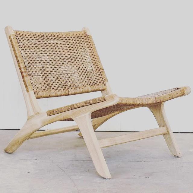 Handgemaakt lounge stoel ROTY ( Teak & rotan)