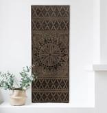 Houtsnijwerk wandpaneel NEW TIMOR, langwerpig ( 150x60 cm), kleur: antiek bruin