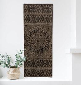 Geschnitzte Wandpaneele NEW TIMOR, langes Format ( 150x60 cm) antikbraun