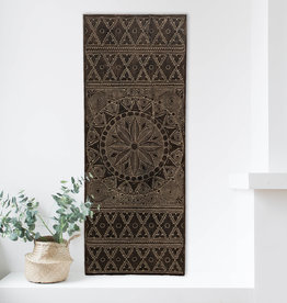 Hand carved wall panel NEW TIMOR, long version ( 150x60 cm)  antique brown