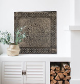 simply pure Hand carved wall panel TIMOR, square ( different sizes), colour: antique brown