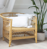 simply pure Beautiful rattan braided armchair with cushion