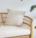 Handgefertigte Kissen mit Quasten ( 2er Set) Farbe: Beige