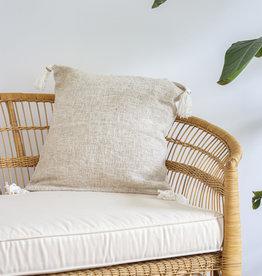 Handgefertigte Kissen mit Quasten (2er Set) Farbe: Beige