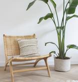 Lounge-Stuhl ROTY aus Holz und Rattan