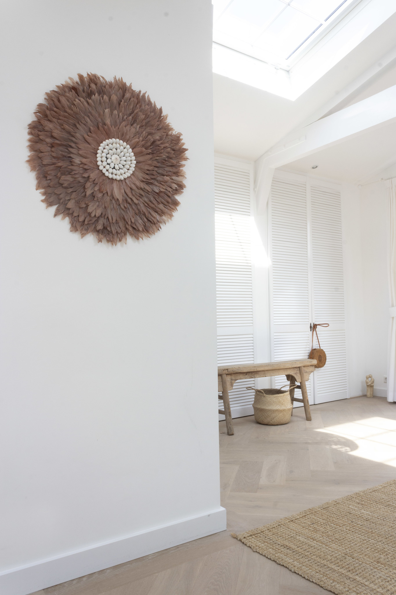 Juju wanddecoratie bruin