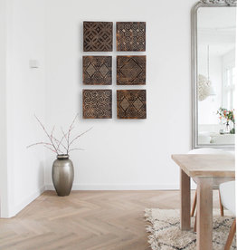 Timor wall panel set antique brown