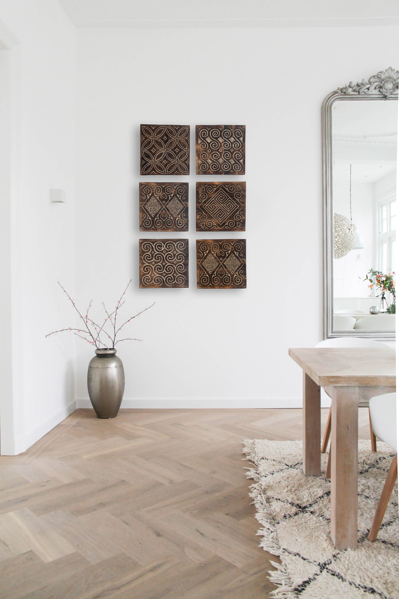 simply pure Timor wall panel set antique brown