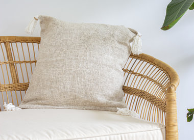 Handmade pillows with tassels