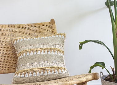Handcrafted cushions with beads