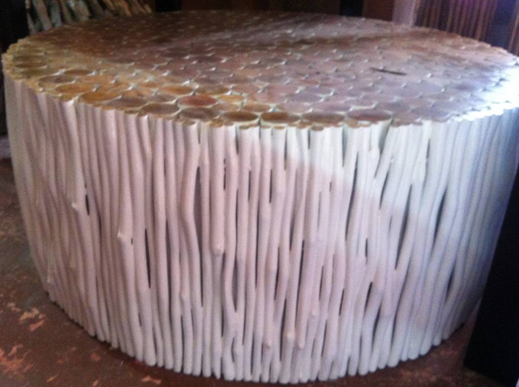 simply pure Houten salon tafel Dia 105 cm