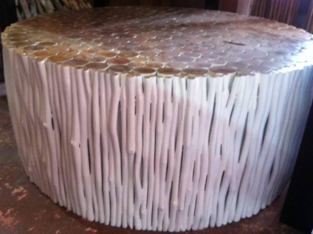 simply pure Wohnzimmertisch aus Holz Design RAMI (rund) Farbe: weiss / Verschiedene Abmessungen moeglich