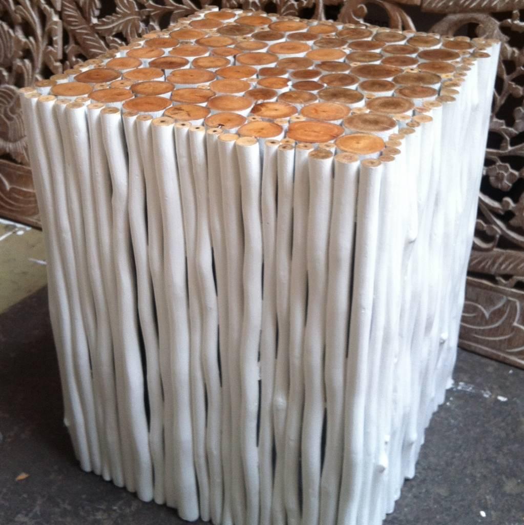 Beisetztisch aus Holz Design RAMI (viereckig) Farbe: weiss / verschiedene Abmessungen