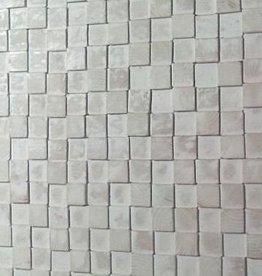 Wandpanele aus Holz Design QUADRINO PINE Kleur: Whitewash / Verschiedene Abmessungen