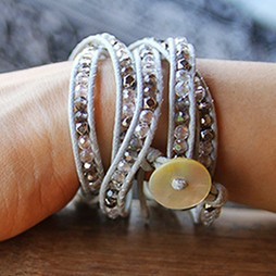 simply pure Wickelarmband CRYSTAL MIX Farbe: Grau