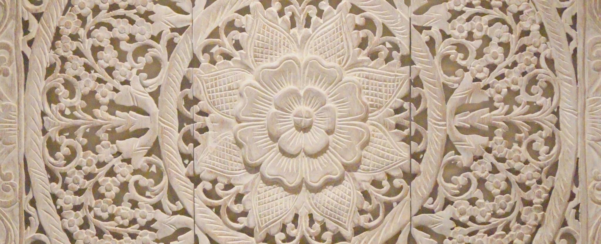SIMPLY PURE Houtsnijwerk wandpanelen, houtsnijwerk wanddecoratie, houten wandkunst