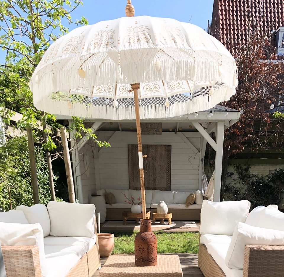simply pure Handgefertigter Bali Boho Sonnenschirm ( Durchmesser: 2 meter) Design NIRVA