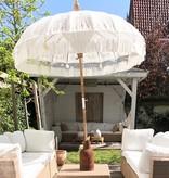 simply pure Handcrafted luxury Bali Boho umbrella ( dia: 2meter) Design MACRAME cream