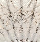 simply pure Handgefertigter Bali Boho Sonnenschirm ( Durchmesser: 2 meter) Design MACRAME creme
