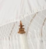 simply pure Handcrafted luxury Bali Boho umbrella ( dia: 2.35 meter) Design BLANCO