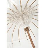 simply pure Handgemaakte Luxe Bali Boho parasol ( dia: 2.35 meter) Design BLANCO