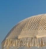 simply pure Handgemaakte Luxe Bali Boho parasol ( dia: 2.00 meter) Design MACRAME creme