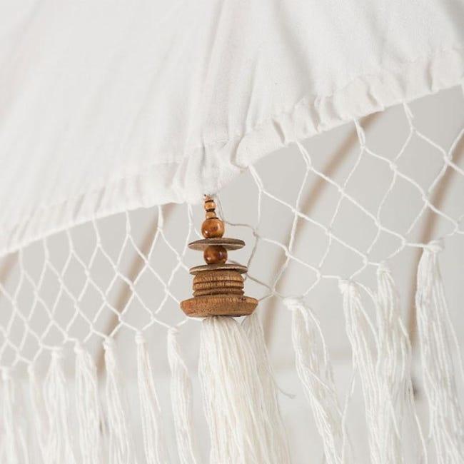 simply pure Handgefertigter Bali Boho Sonnenschirm ( Durchmesser: 2.35 meter) Design BLANCO - Copy