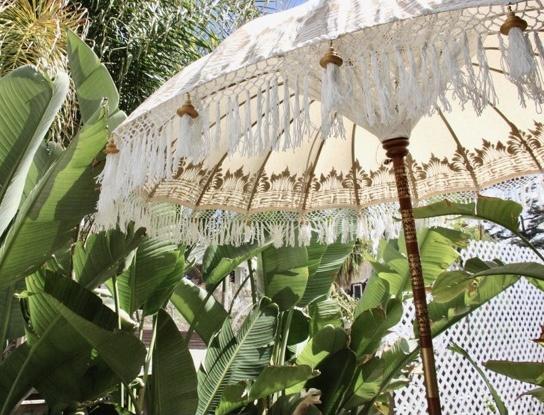 simply pure Handgemaakte Luxe Bali Boho parasol ( dia: 2meter) Design  MIX & MATCH  Custommized kleur & design