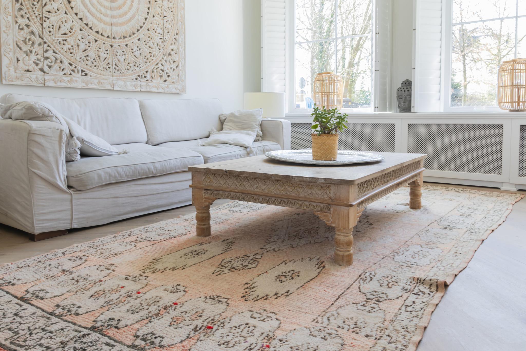 Simply Pure Handgefertigter Vintage Boujaad Teppich aus Marokko 180 x 367 cm