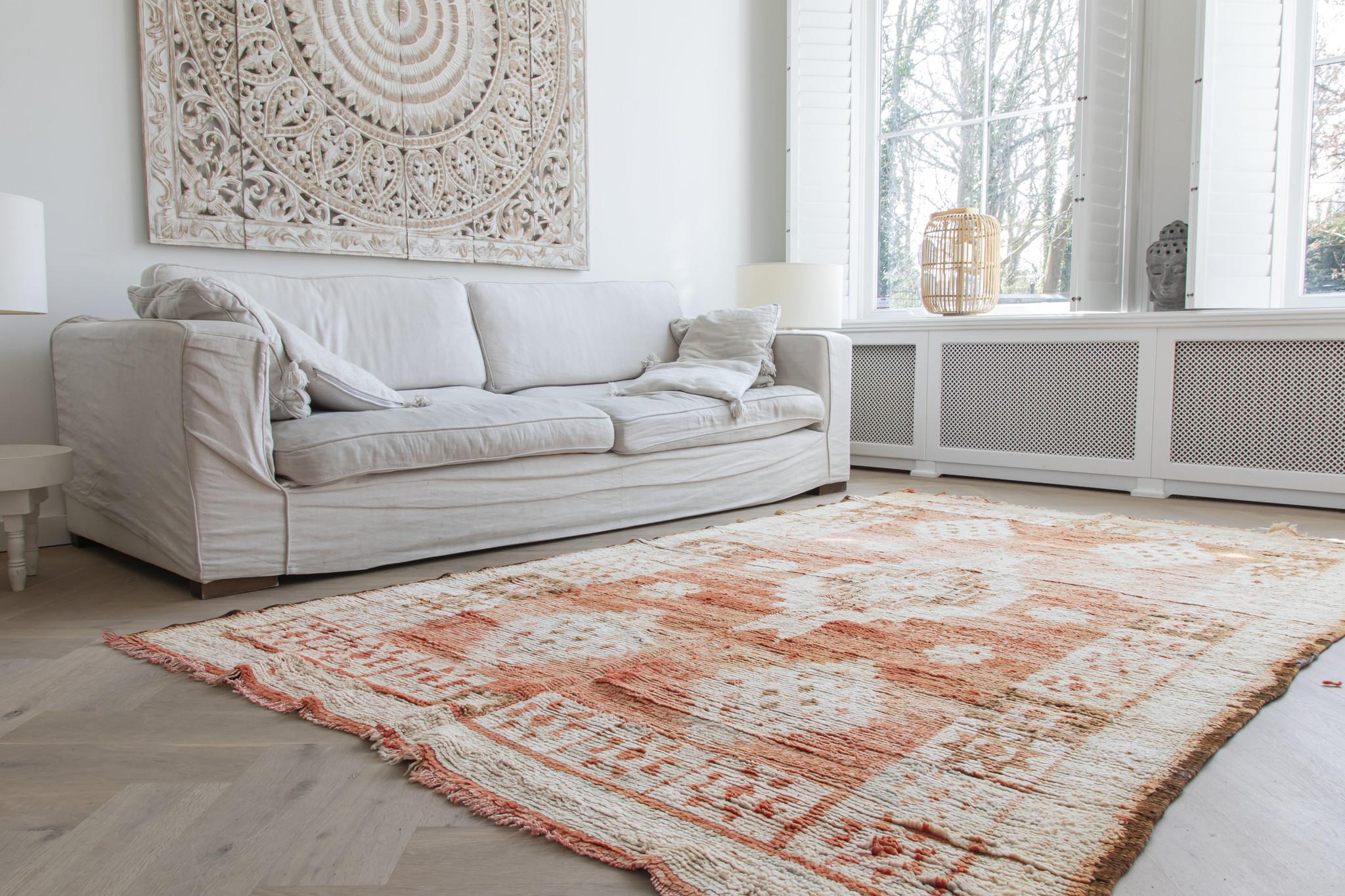 Simply Pure Handgemaakt vintage Boujaad berber vloerkleed uit Marokko 193 x 285 cm