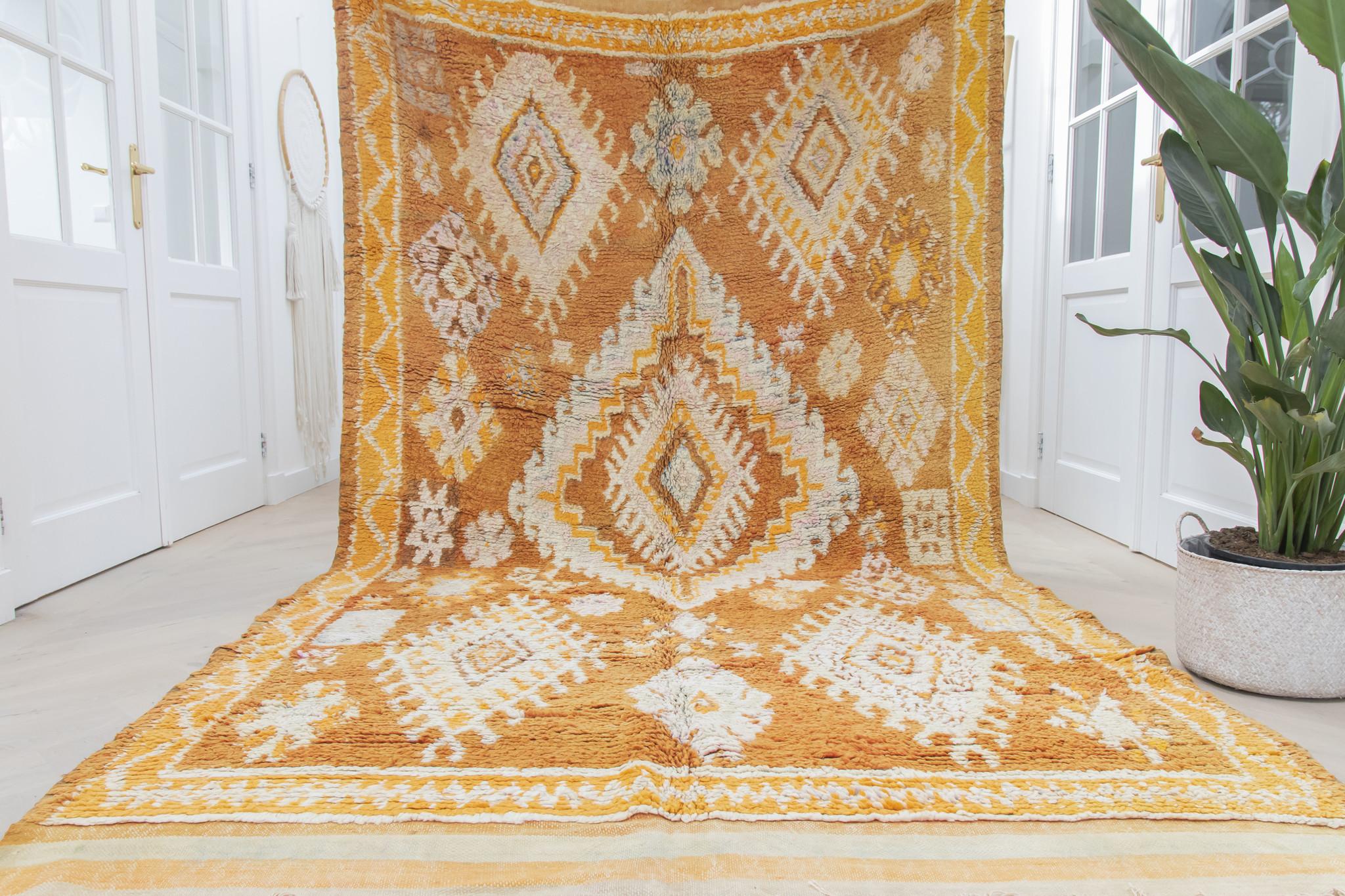 Simply Pure Handgefertigter Vintage Boujaad Berberteppich aus Marokko 177 x 337 cm