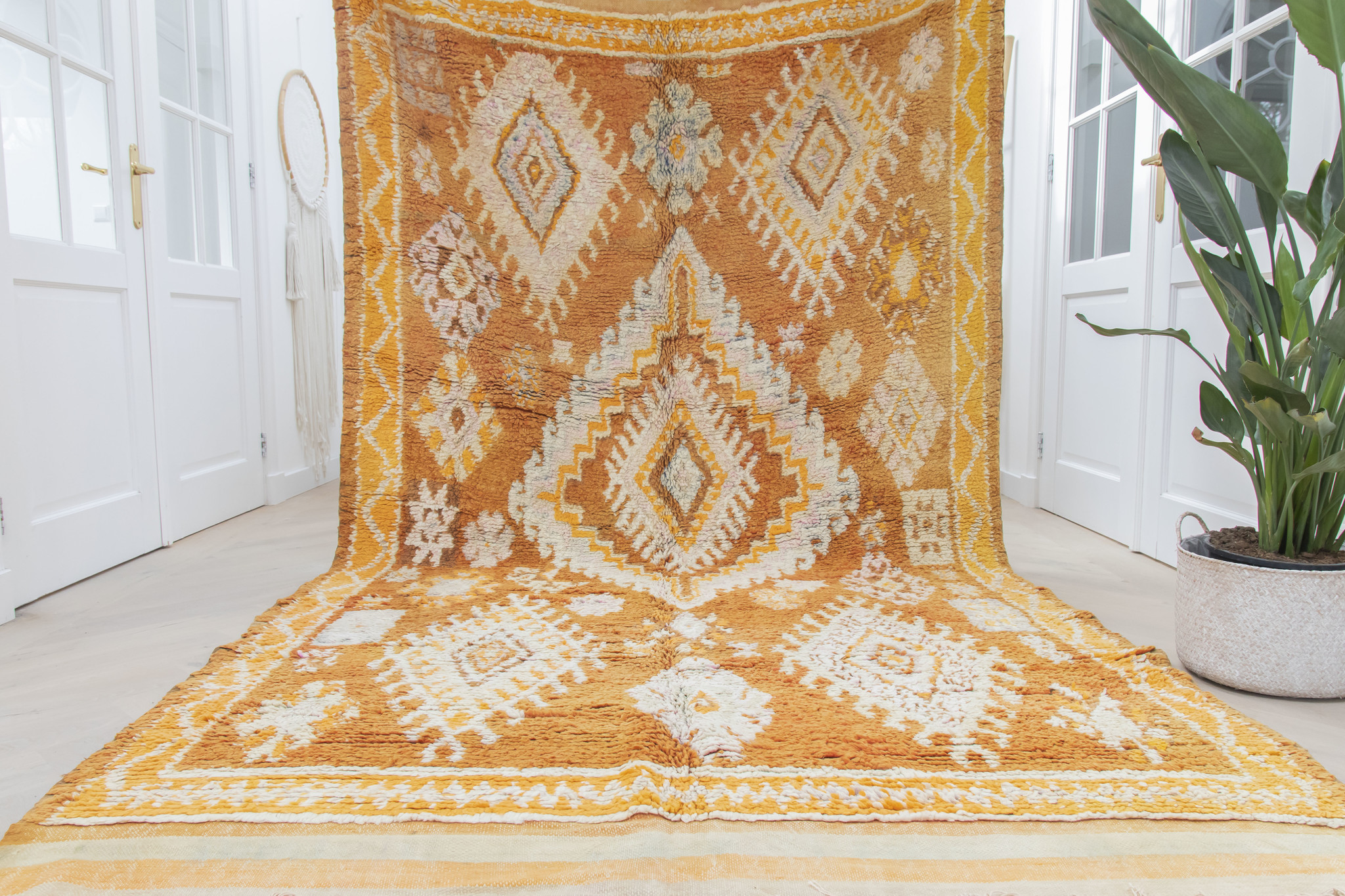 Simply Pure Handknotted Vintage Boujaad berber rug from Morocco 177 x 337 cm