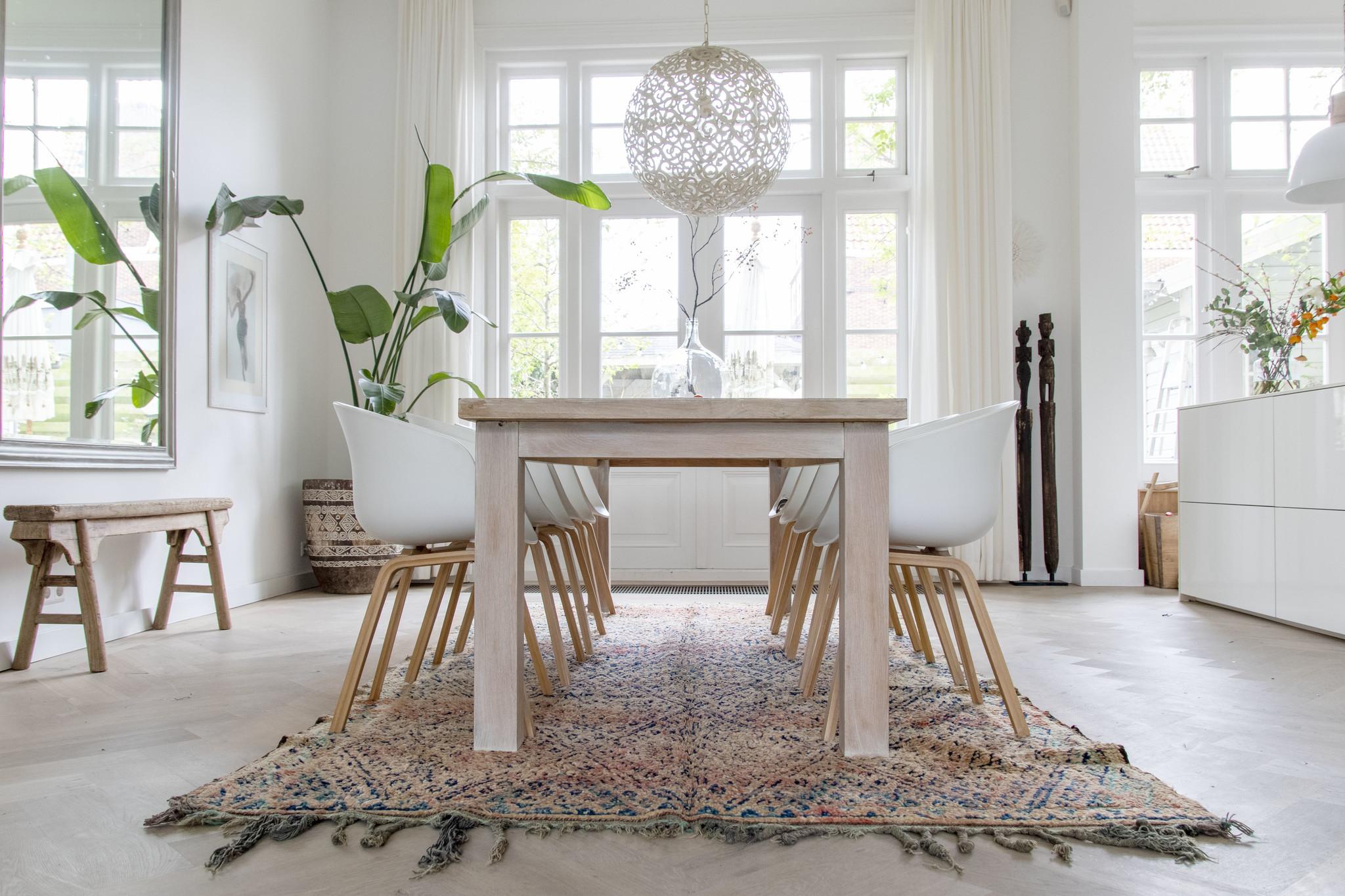 Simply Pure Handgefertigter Vintage Beni M'guild Berber-Teppich aus Marokko  190 x 337 cm