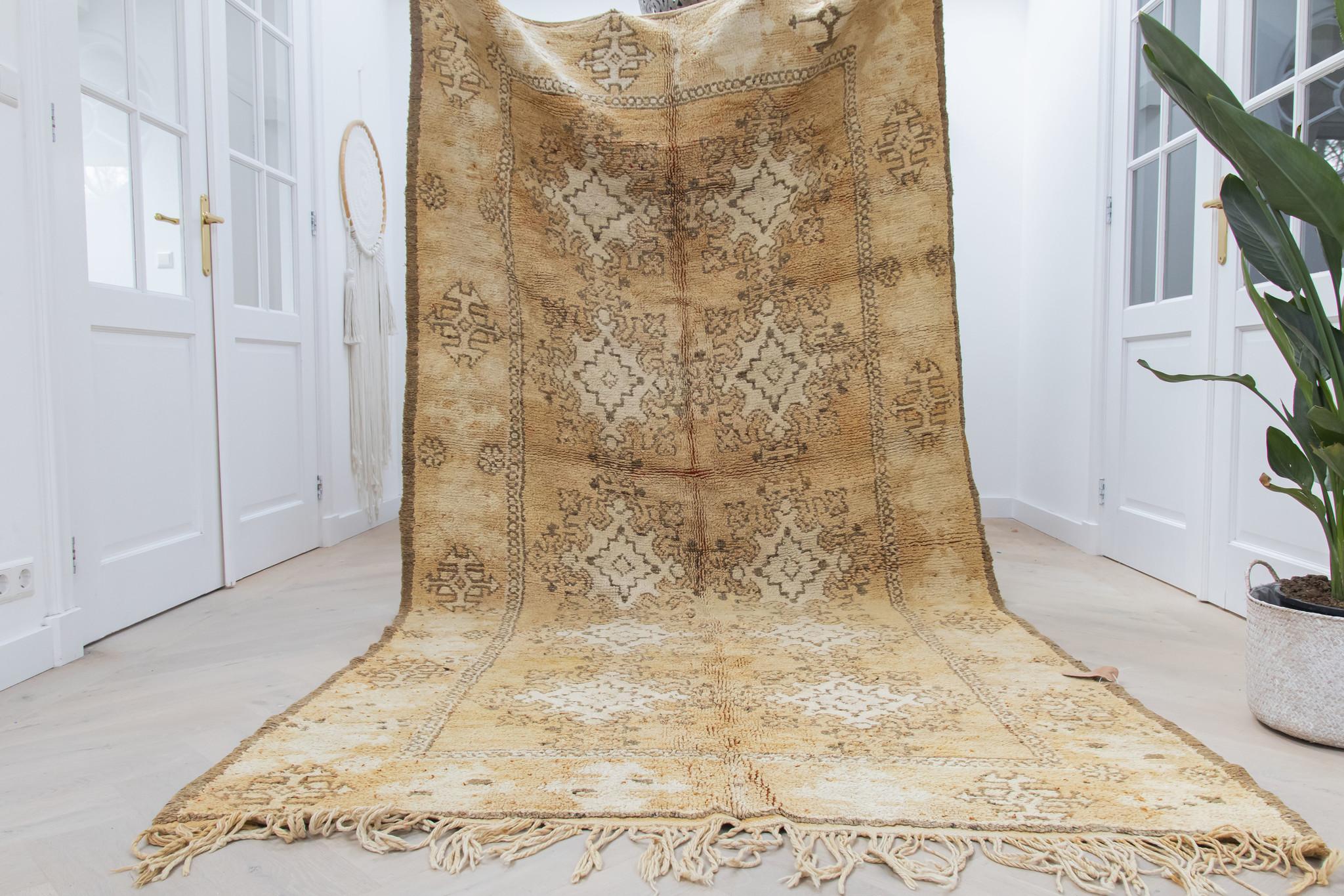 Simply Pure Handgefertigter Vintage Boujaad Teppich aus Marokko 158 x 310 cm
