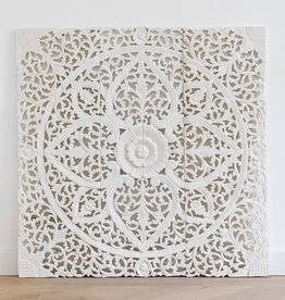 Simply Pure Hand carved wall panel LOTO white - Copy